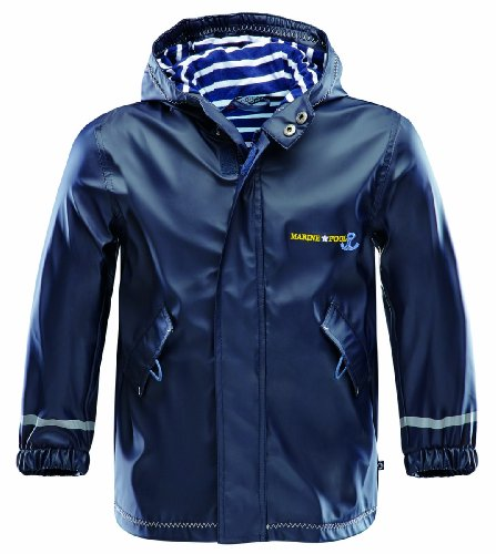 Marinepool Kinder Jacke Drifter Rainjacket Kids, Navy, 104/110