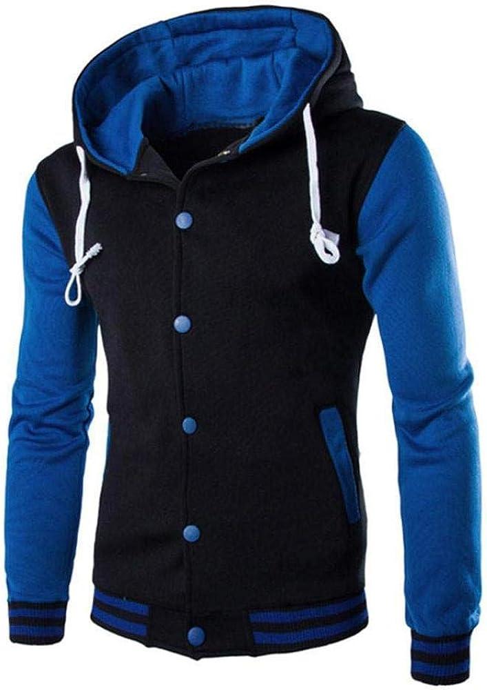 HGWXX7 Men's Hooded Sweatshirt NEW before selling ☆ Warm [Alternative dealer] Tops Jacket Slim Button Coat