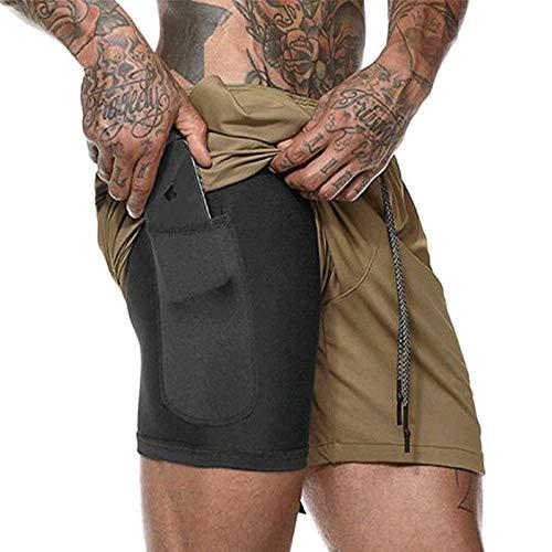 Pantalones Cortos Deportivos Pantalones Cortos De Culturismo para Hombre,EntrenamientoInformal paraHombre, Malla Transpirable, Ropa Deportiva De Secado Rápido, Pantalones