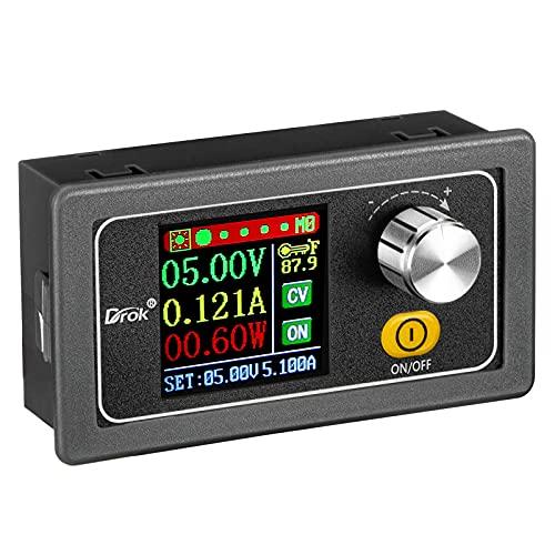 Adjustable Voltage Regulator DC, DROK Buck Boost Converter 6.0V-36V 9v 12v to DC 0.6-36V 24v 5A Power Supply Panel, Constant Current Volt Step Up Down Module