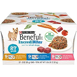 Purina Beneful Small Breed Wet Dog Food Variety Pack, IncrediBites – (27) 3 oz. Cans