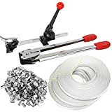 iMeshbean Strapping Tool Complete Kit with Metal Seals & 1000FT Poly Strap Banding Roll Supply Set...