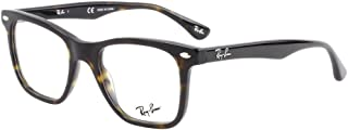 Ray-Ban RX5248 Square Eyeglass Frames, Dark Havana/Demo...