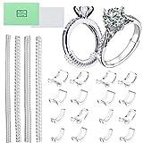 LABOTA Paquete de 20 unidades de ajuste de tamaño de anillo invisible, 2 estilos para anillos sueltos, anillo de tamaño múltiple para casi cualquier anillo, con paño de pulido de joyería