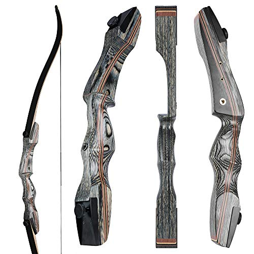 OEELINE Airobow Takedown Archery Recurve Bow 62 inch Hunting Bow Right and Left Hand Draw Weights in 25-55 lbs