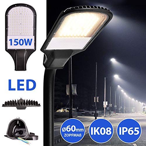 LED Straßenlampe Straßenleuchte Straßenlaterne Straßenbeleuchtung Parkplatzbeleuchtung Hochleuchte 150W 4000K neutralweiß IP65 13500lm