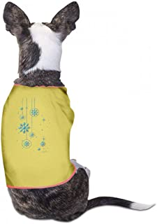 Pet Clothes Christmas Pet Clothes Dog T-Shirts Clothes Merry Christmas Pet Clothing for Small Dogs Kitten Vest Fashion T-Shirt Breathable Sleeveless Summer - (Sky Blue, Gray, Yellow, Black)