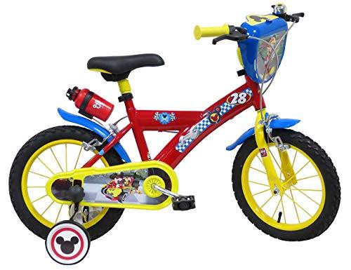 giordanoshop Bicicletta per Bambino 14' 2 Freni Mickey Racer Rossa