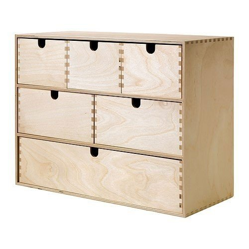 Ikea MOPPE Mini-Kommode in Birke (42x18x32 cm)