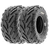 SunF 18x9.5-8 18x9.5x8 ATV UTV Tires 6 PR Tubeless A016 [Set of 2]