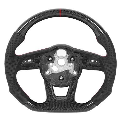 Volante, Fibra de Carbono Automoción Racing Nappa Cuero perforado Ajuste para B9 A3 A4 A5 S3 S4 S5 RS3 RS4 RS5 2017+