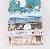 Tela algodon telas patchwork, comius sharp 6 piezas 50 cm x 40 cm diy tela de algodón de dibujos animados de algodón para patchwork acolchado almohadas cojín cubrir tela telas a coser (b)