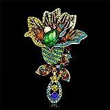Broche de insignias para hombres y mujeres, diseño de flores multicolor con diamantes de imitación, accesorio para bufandas, bolso multicolor.