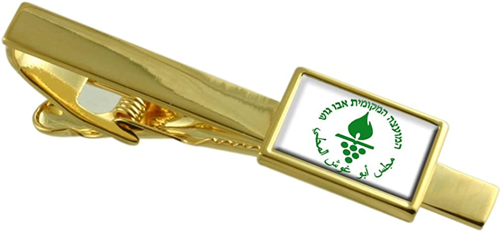 Select Gifts Abu Ghosh City Israel Flag Gold-tone Tie Clip