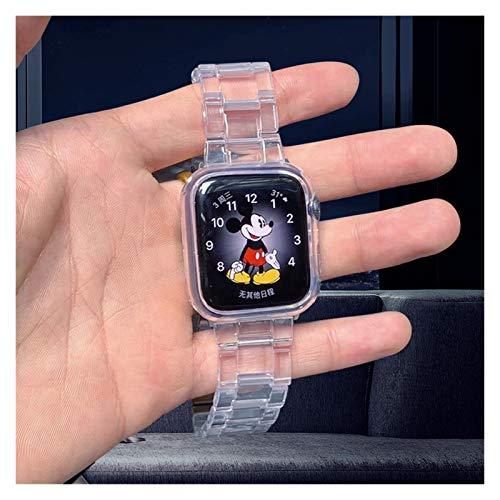 Lwwhama Aplicar a la banda de reloj de resina para Apple Watch 5 band 44mm Iwatch 42mm Series 6 4 3 2 1 Correa Accesorios de pulsera Loop 40 mm Pulsera Reemplazo Reloj Bandas para mujeres Relojes Band