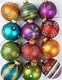 Inge-glas - Juego de 12 Bolas de Navidad de Cristal, 8 cm, diseño millefiori