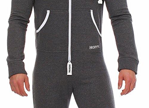 Gennadi Hoppe Herren Jumpsuit Onesie Jogger Einteiler Overall Jogging Anzug Trainingsanzug Slim Fit,grau,X-Large - 4
