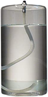 Firefly 5-Inch Refillable Glass Pillar Candle - Liquid Candles are The Latest Trend in Candle Lighting