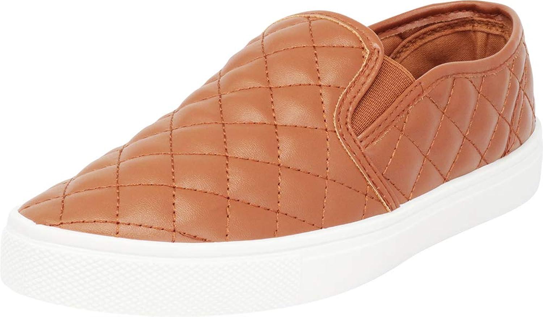 Cambridge Select Woherrar Woherrar Woherrar Round Toe Quited Slip -on vit Sole Flatform Mode skor  Beställ nu