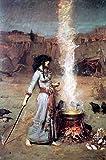 1art1 John William Waterhouse - Der Magische Kreis, 1886