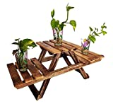Product Dimensions When Open : (lxbxh) 26x12x9 inch Product Dimensions When closed : (lxbxh 27x9x2 inch Perfect to store Pots, decorate your garden or your inside and outdoor area wherever you like. Made up of high quality and durable wood for qualit...