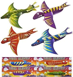 Nouveau style Dino Pack de 12 Dinosaure Volant Planeur Avions Enfants Cadeau Fête Loot Sac