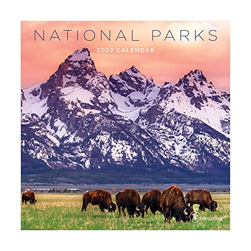 TF PUBLISHING - 2022 National Parks Mini Calendar - Home and Office Organizer - Monthly Grid Space for Planning and Schedules - 4 Bonus Months - 7'x7'