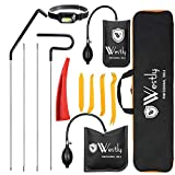 Professional Car Lockout Kit (13 pcs) Emergency Vehicle Door Unlock Tools with LED Light, Long Reach Grabber, Air Wedge Pump Waterproof Carrying Case, Essential Tagout Tool Kit for Automotive Truck