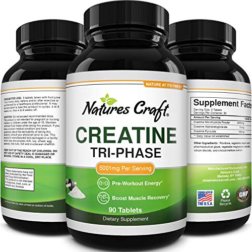 Mass Gainer Creatine Monohydrate Tablets - Natural Creatine Monohydrate...