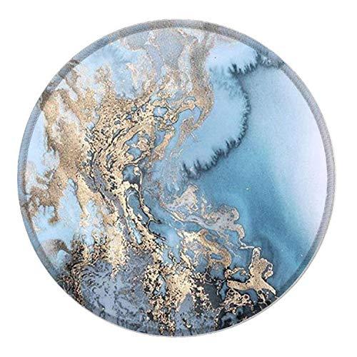 NNAKAPAKA Mauspad personalisierte bedruckte Mausmatte, rutschfestes Mousepad auf Gummibasis für Laptop, Computer & PC, 7,9 x 7,9 Zoll (Blauer Marmor)