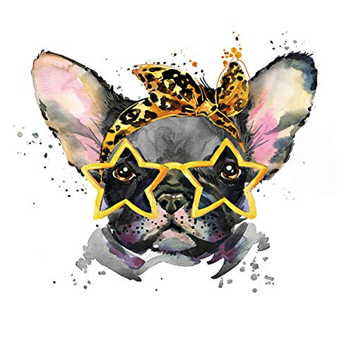 DIY 5D Diamond Painting Set, French Bulldog Dog Oil Painting, Diamond Embroidery Painting, Living Room Decoration Painting, Home Crafts 13.7X13.7 inches