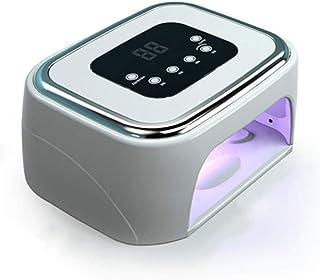 CYYMY Lámpara Led Uñas 120W UV Secador de Uñas para Gel Manicura Shellac con 4 Temporizadores Perlas de Lámpara UVC de Esterilización de Máquina de Desinfección