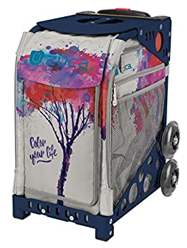 ZUCA Color Your Life Sport Insert Bag and Navy Blue Frame with Flashing Wheels