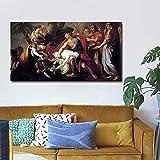 Peinture Imprimé NéoClassicisme Toile Affiche Achille déplorant la mort de Patroclus Mur Art Image pour la chambre Accueil Decor 50x100cm Industrie