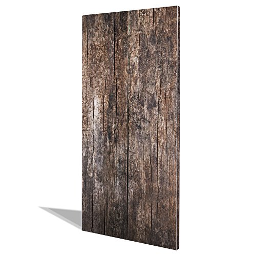 banjado Design Magnettafel groß | Magnetwand weiß 78x37cm weiß | Pinnwand magnetisch mit Magneten und Montageset | Magnetpinnwand mit Motiv Altes Holz