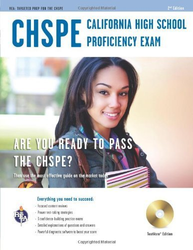 California High School Proficiency Exam (CHSPE) w/CD (California (CHSPE) Test Preparation) by Stephen Hearne, Maria Suzanne Scafuri (2013) Paperback