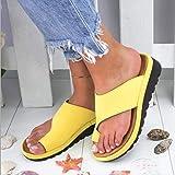 ypyrhh Chaussures de Plage Piscine Claquette,Compensées,Sandales,dormeuses,dormeuses-Jaune_38,Tongs Hommes été Cuir en Tissu