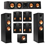 Klipsch 7.1 System with 2 RP-280F Tower Speakers, 1 RP-440C Center Speaker, 4 Klipsch RP-240S Surround Speaker, 1 Klipsch R-110SW Subwoofer + AudioQuest Bundle