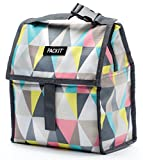 PackIt Freezable Lunch Bag with Zip Closure, Pastel Prism