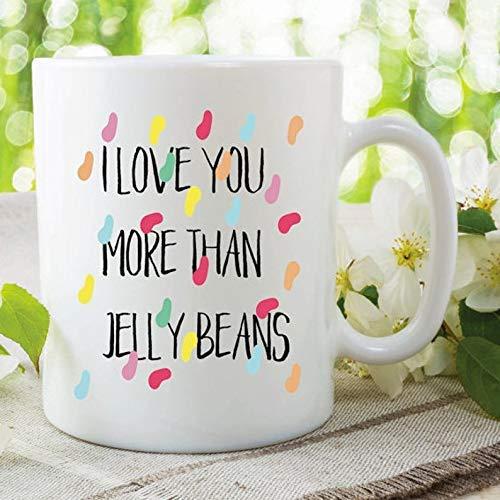 N\A Taza de te Amo Te Amo más Que gominolas Regalo de San Valentín Novia Novio Marido Esposa Regalo de cumpleaños de Navidad Taza de cerámica