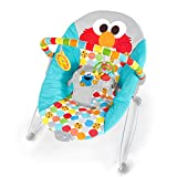 Bright Starts Sesame Street I Spot Elmo! Vibrating Bouncer with Toy bar, Ages 0-6 Months