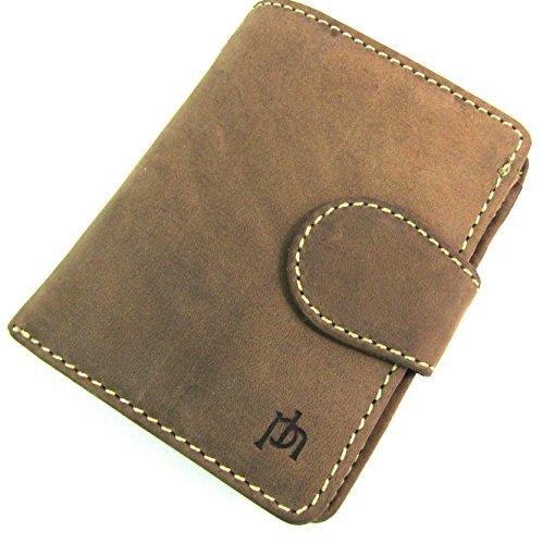 Leather Emporium Créateur FEMMES Délavé Marron Porte-monnaie en cuir 8501