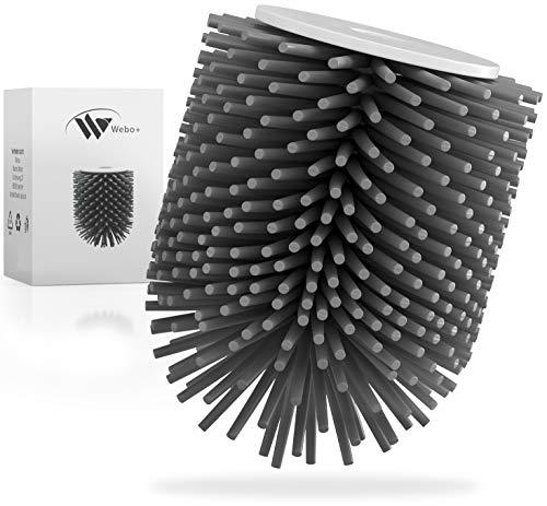 Webo+® Ersatzbürstenkopf ohne Griff | WC Bürste Toilettenbürste Silikon