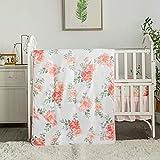 La Premura Watercolor Floral Nursery Crib...