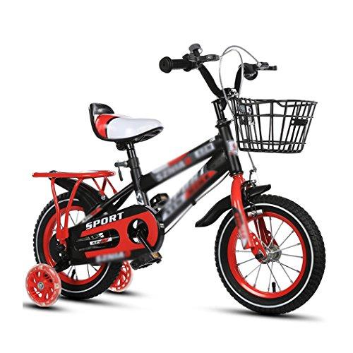 BaoKangShop Bicicletas Bicicletas para niños 2-3-4-6-7-8 años bebé 12-14-16-18 Pulgadas Carro de bebé certificación 3C Coche Infantil (Color : Red, Size : 12 Inches)