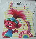 Disney Camiseta Infantil Licenciada de Trolls 100% Cotton (Fucsia, 8)