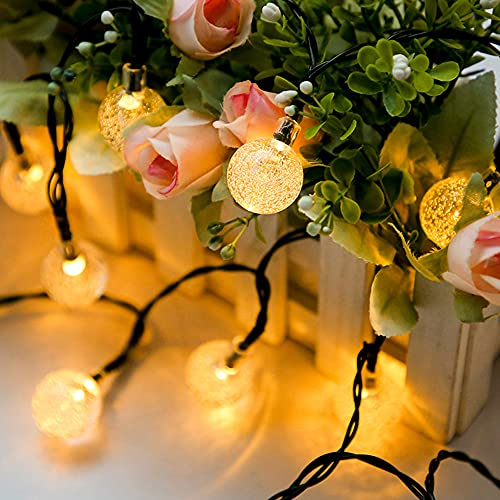 Koopower Solar Lichterkette,50LED 23ft Solar Kristallkugel mit 8 Modi, Außen- / Innenbeleuchtung, verwendet für Gärten, Terrassen, Weihnachten, Hochzeiten, Partys warmweiß[Energieklasse A ++], KP0432