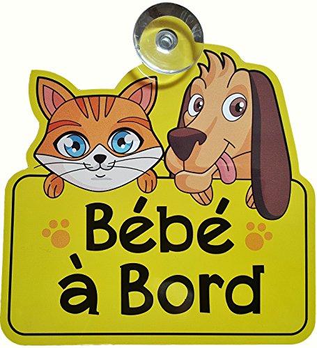 BÉBÉ À BORD Panneau de voiture avec ventouse - Signe de voiture - Autocollant - Grand cadeau / cadeaux / présents / cadeaux pour le nouveau bébé, fille, garçon, enfants, vinyle