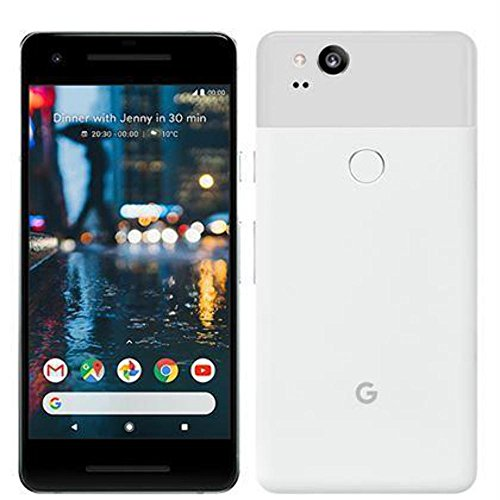Pixel 2 Phone (2017) by Google, G011A 128GB, 5 inch SIM-free Factory Unlocked Android 4G/LTE Smartphone (Clearly White)