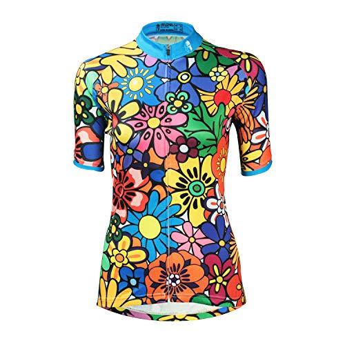 SOAR Ciclismo Conjunto de Ropa Maillot Ciclismo Mujer MTB Manga Corta,For El Deporte Al Aire Libre Biking De Ciclo Equipacion,Verano Transpirable De Secado Rápido (Color : Orange, Size : 2XL)
